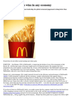 Why McDonald's Wins in Any Economy[1]