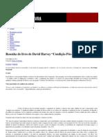 """Resenha do livro de David Harvey """"Condição Pós-Moderna"""" _ Passa Palavra"""