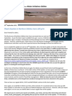 Flood Update IX From WIO - 25th September 2011