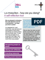 Co-Production Self Reflection Tool V8 May 2011