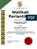 sijil  watikah pngawas