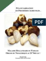 La financiarisation des matières premières agricoles