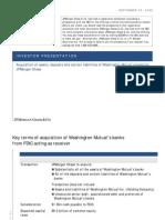 Washington Mutual (WMI) -  JP Morgan Chase Analyst Presentation on September  25, 2008