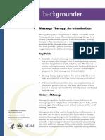 Massage - introduction