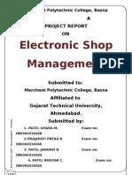 Electronic Shop Management System