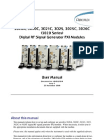 3020 Series Digital RF Signal Generator PXI Modules User Manual