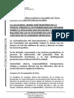 BALANCE 100 DÍAS DE GOBIERNO