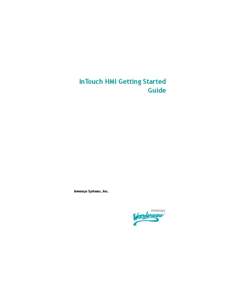 Getting Started Intouch | Installation (Computer Programs) | Integrated  Development Environment