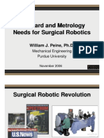 Standard and Metrology Needs for Surgical Robotics- Peine