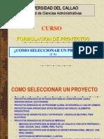 Proy. 4º  S. Como seleccionar un proyecto
