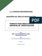 Formato básico para redactar reportes
