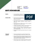 Aditi Resume