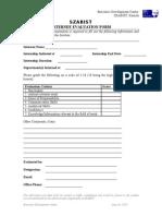 Internee Evaluation Form Corporate)