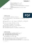 Variante Bacalaureat Matematica M1 2009