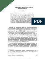 3. EL HUMANISMO CÍVICO Y SUS RAÍCES ARISTOTÉLICAS, ALEJANDRO LLANO