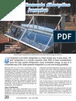 A Solar Ammonia Absorption Icemaker