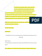 Rationale Paper for AECT Standards