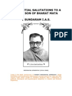 Reverential Salutations to a Great Son of Bharath Mata