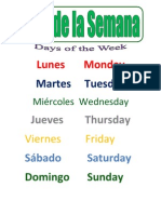Spanish Days of the Week SM