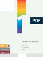 Programa de estudio 2009 1°