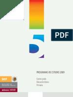 Programa de estudio 2009 5°