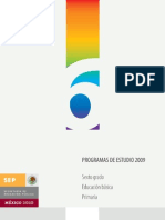 Programa de estudio 2009 6°