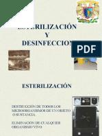 1.- Esterilización y Desinfección