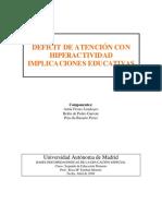 Hiperactividad IMPLICANCIAS EDUCATIVAS