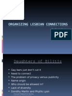 Organizing Lesbian Connections