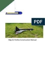 MIG-31 Firefox Construciton Manual