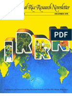 International Rice Research Newsletter Vol.3 No.6