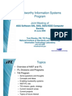 Trustworthy Information Systems Program - At NIST