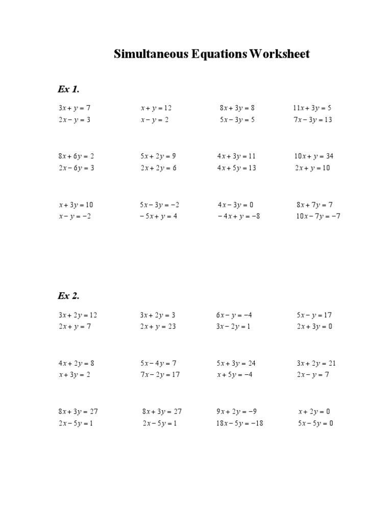 worksheet Quadratic Equations Worksheet Pdf 1490755739
