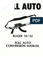 Rugar 10 22 Carbine Full Auto Conversion Manual
