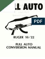 Rugar 10 22 Carbine Full Auto Conversion Manual