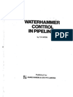 Water Hammer Control in Pipelines