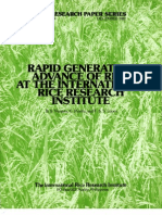 IRPS 84 Rapid Generation Advance of Rice at the International Rice Research Institute