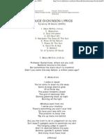 Bruce Dickinson Lyrics - Tyranny of Souls (2005)