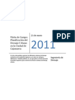 1st Report - Planificacion Del Drenaje Urbano