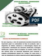 ELEMENTOS DE MÁQUINAS-ENGRENAGENS - CÁLCULO BÁSICO
