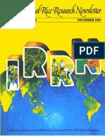 International Rice Research Newsletter Vol. 10 No.6