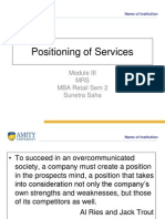 5.Positioning of Services