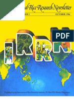 International Rice Research Newsletter Vol.11 No.5