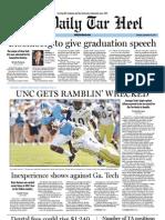 The Daily Tar Heel September 26, 2011