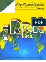 International Rice Research Newsletter Vol12 No.2