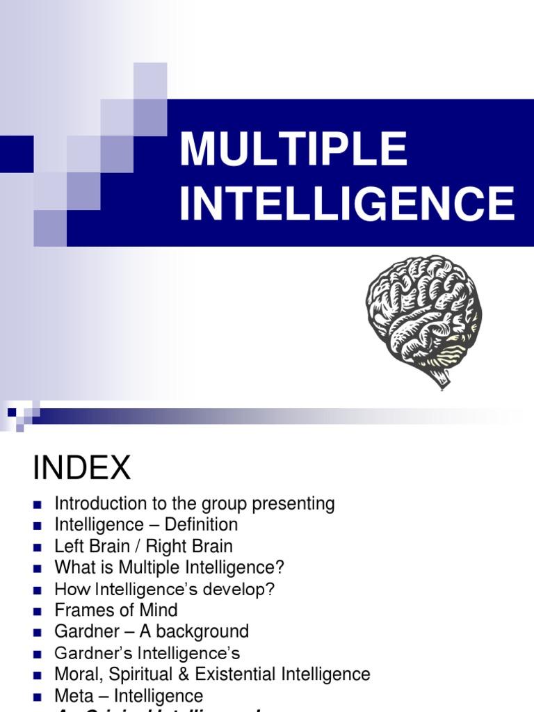 multiple intelligence - final | intelligence | neuropsychology