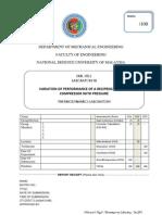 Lab 3 Sheet Air Compressor Unit - 25 Sep 11