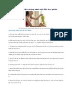 10 mẹo hay và 6 cách phòng tránh ngộ độc thực phẩm