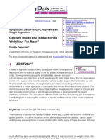 Prycena Calcium Intake and Reduction in Weight[1]