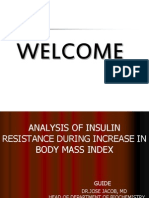 Analysis of Insulin Resistance During Increase in Body Mass Index
